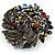 Dramatic Diamante Corsage Brooch (Black&Multicoloured) - view 3
