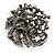 Dramatic Diamante Corsage Brooch (Black&Multicoloured) - view 5