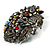 Dramatic Diamante Corsage Brooch (Black&Multicoloured) - view 6