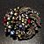Dramatic Diamante Corsage Brooch (Black&Multicoloured) - view 2