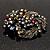 Dramatic Diamante Corsage Brooch (Black&Multicoloured) - view 4
