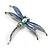 Blue Enamel Dragonfly Brooch - view 2