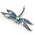 Blue Enamel Dragonfly Brooch - view 4