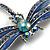 Blue Enamel Dragonfly Brooch - view 5