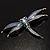 Blue Enamel Dragonfly Brooch - view 7