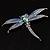 Blue Enamel Dragonfly Brooch - view 3