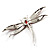 Pink-Red Enamel Dragonfly Brooch - view 6