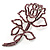 Luxurious Large Swarovski Crystal Rose Brooch (Silver&Pink)