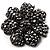 Iridescent Black Crystal Corsage Flower Brooch (Black Tone)