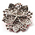 Victorian Corsage Flower Brooch (Silver&Bright Red) - view 4
