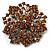 Victorian Corsage Flower Brooch (Silver&Light Citrine)