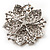 Victorian Corsage Flower Brooch (Silver&Light Citrine) - view 3