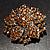 Victorian Corsage Flower Brooch (Silver&Light Citrine) - view 4