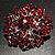 Victorian Corsage Flower Brooch (Silver&Burgundy) - view 5