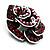 Romantic Vintage Dimensional Crystal Rose Brooch (Black&Red) - view 7