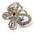 Unique Swarovski Crystal Butterfly Brooch (Silver Tone) - view 5