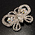 Unique Swarovski Crystal Butterfly Brooch (Silver Tone) - view 4