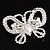 Unique Swarovski Crystal Butterfly Brooch (Silver Tone) - view 6