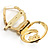 Swirl Crystal Scarf Pin/ Brooch (Gold Tone) - view 3