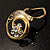 Swirl Crystal Scarf Pin/ Brooch (Gold Tone) - view 5