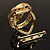 Swirl Crystal Scarf Pin/ Brooch (Gold Tone) - view 6