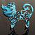 'Russian Blue' Enamel Cat Brooch