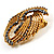 Vintage Antique Gold Bow Crystal Brooch (Jet Black) - view 4