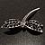 Classic Black Swarovski Crystal Dragonfly Brooch (Silver Tone) - view 8