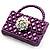 Stylish Crystal Bag Brooch (Purple) - view 2