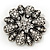 Amber Coloured Crystal Daisy Brooch (Silver Tone) - view 10
