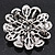 Amber Coloured Crystal Daisy Brooch (Silver Tone) - view 14