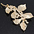 Gold Plated Crystal Simulated Pearl Floral Brooch/Pendant - view 12