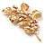 Gold Plated Crystal Simulated Pearl Floral Brooch/Pendant - view 6