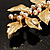 Gold Plated Crystal Simulated Pearl Floral Brooch/Pendant - view 9
