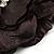 Large Black Crystal Fabric Rose Brooch - 13cm Diameter - view 5