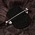 Large Black Crystal Fabric Rose Brooch - 13cm Diameter - view 7