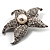 Silver Tone Sparkling Crystal Floral Brooch - view 3