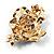 Purple Enamel Crystal Flower Brooch (Gold Tone) - view 7