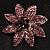 Light Purple Swarovski Crystal Bridal Corsage Brooch (Silver Tone) - view 2