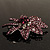 Light Purple Swarovski Crystal Bridal Corsage Brooch (Silver Tone) - view 4