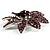 Light Purple Swarovski Crystal Bridal Corsage Brooch (Silver Tone) - view 7