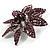 Light Purple Swarovski Crystal Bridal Corsage Brooch (Silver Tone) - view 3