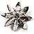 Light Purple Swarovski Crystal Bridal Corsage Brooch (Silver Tone) - view 8