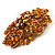Victorian Corsage Flower Brooch (Gold & Amber Coloured) - view 3