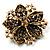 Victorian Corsage Flower Brooch (Gold & Purple) - view 5