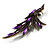Purple Exotic Crystal Fire-Bird Brooch - view 3
