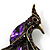 Purple Exotic Crystal Fire-Bird Brooch - view 5