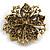 Victorian Corsage Flower Brooch (Burgundy Red & Antique Gold) - view 10