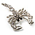 Small Clear Crystal Scorpion Brooch (Silver Tone) - view 4