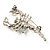 Small Clear Crystal Scorpion Brooch (Silver Tone) - view 5